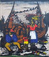 Quadro di Gennaro Picinni  I pescatori