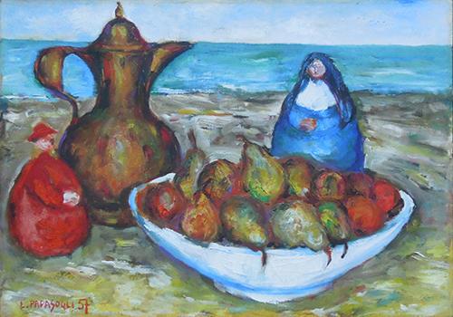Art work by Leonardo Papasogli Composizione onirica  - oil canvas