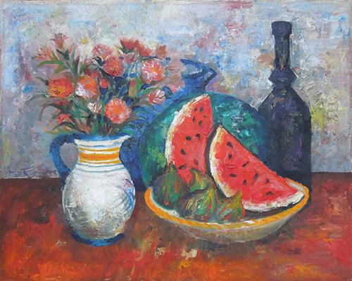 Art work by Leonardo Papasogli Composizione  - oil canvas