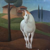 Quadro di Roberto Masi  Cavallo bianco