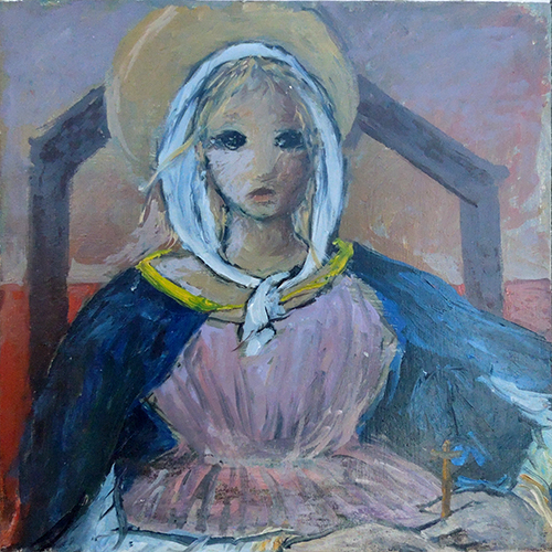 Art work by Bruno Paoli Madonna della capanna  - oil table