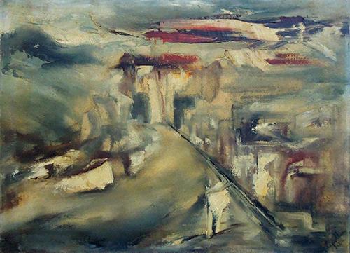 Quadro di Giampietro Cipollini Paesaggio - olio tela