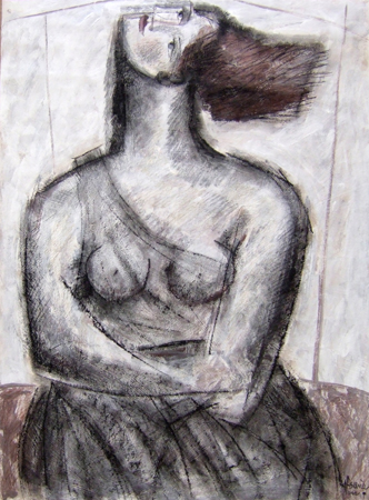 Art work by M. Afsane Figura - mixed paper
