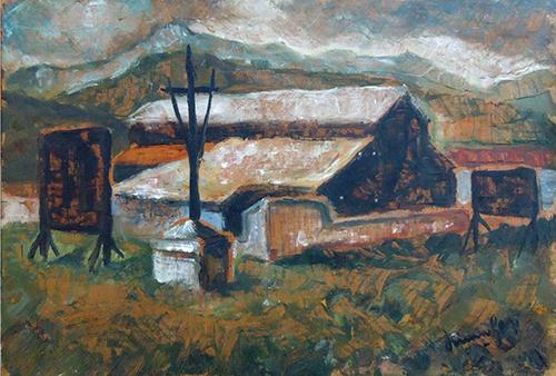 Quadro di Simone Gori Paesaggio - Pittori contemporanei galleria Firenze Art