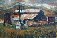 Quadro di Simone Gori - Paesaggio olio faesite