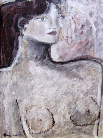 Quadro di M. Afsane Figura - Pittori contemporanei galleria Firenze Art