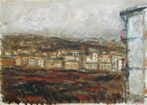 Quadro di Emanuele Cappello Dintorni di Firenze - olio tela