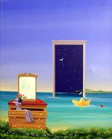 Work of Franco Lastraioli - Porta sulla notte acrylic canvas