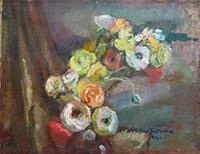 Quadro di Antonio Santandrea  Vaso con fiori