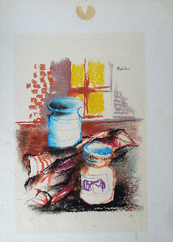 Quadro di Sirio Midollini Composizione  - Pittori contemporanei galleria Firenze Art