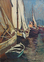 Work of Carlo Domenici - Marina  oil hardboard