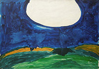 Quadro di Mario Schifano - Paesaggio anemico olio tela