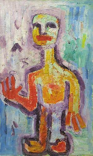 Quadro di Adriano Di Bartolo Figura antropomorfa - olio tela
