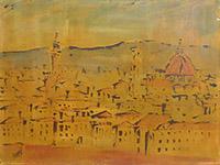 Quadro di  Scarpa  Vista di Firenze