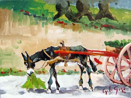 Quadro di Gino Paolo Gori Somarello - olio tela