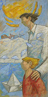 Work of Giampaolo Talani  Padre e figlio