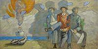 Work of Giampaolo Talani  Tre amici davanti al mare