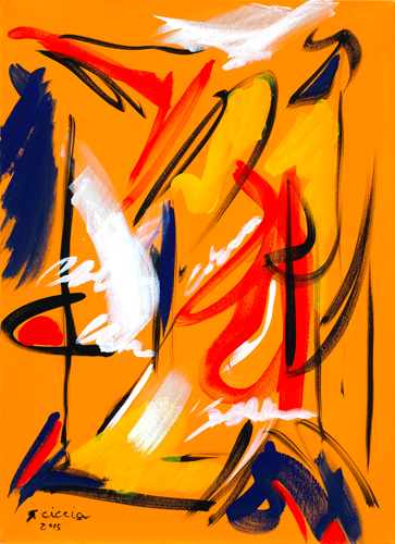 Quadro di Giuseppe Ciccia Lettera da Shanghai - tempera tela