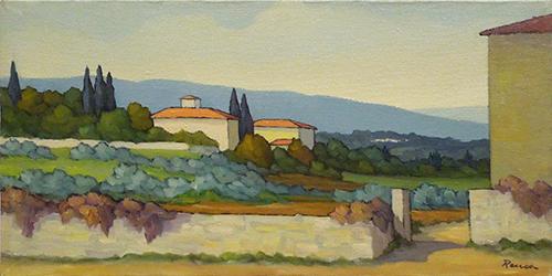 Quadro di Renato Cappelli (Renca) Paesaggio - olio tela