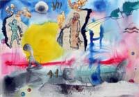 Quadro di Massimo Podestà - Composizione tempera carta