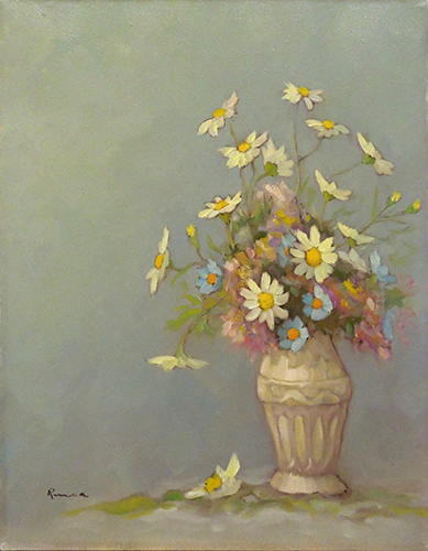 Art work by Renato Cappelli (Renca) Fiori  - oil canvas