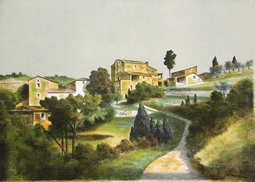 Art work by Nino Tirinnanzi Paesaggio - lithography paper
