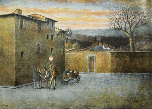 Art work by Nino Tirinnanzi Divieto d'accesso - lithography paper