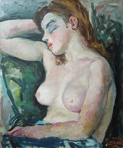 Art work by Mario Bucci Nudo - oil canvas