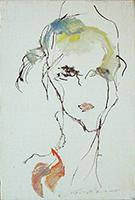 Work of Ernesto Treccani - Ritratto oil canvas