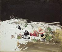 Work of Sergio Scatizzi - Fiori oil jute