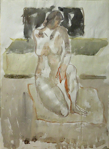 Art work by Silvio Loffredo Nudo - watercolor paper