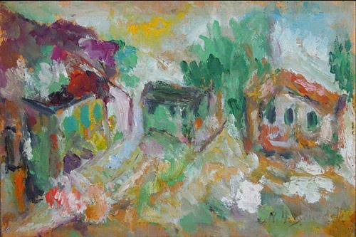 Quadro di Anna Rita  Benedetti Paesaggio - olio compensato