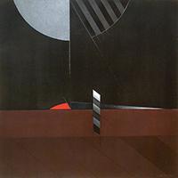 Work of Walter Valentini - Ritmo Rosso mixed canvas