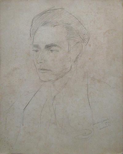 Quadro di Mariano Ilardi Autoritratto - lapis carta