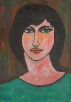 Quadro di Aldo Nava - Ritratto di donna olio cartone telato