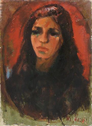 Quadro di Mariano Ilardi Ritratto femminile - olio tela