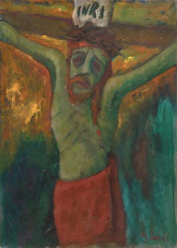 Quadro di Mariano Ilardi Crocifissione - olio tela
