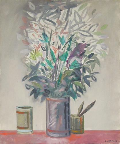 Quadro di Gaetano D'Amico Vaso di fiori - olio tela