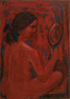 Work of Mariano Ilardi - Nudo in rosso oil canvas