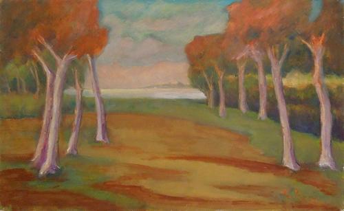 Quadro di Mariano Ilardi Paesaggio - olio faesite