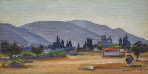 Quadro di Armenio Mattioli Paesaggio - olio faesite