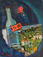 Quadro di Mariano Ilardi - Paesaggio poetico collage tela