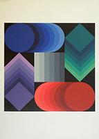 Quadro di Victor Vasarely - Optical Art litografia carta