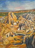 Quadro di  Ximenez - Paesaggio olio tela