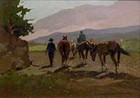 Quadro di Claudio da Firenze  Cavalli maremmani