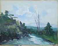 Quadro di Guglielmo Chiaravalle - Paesaggio olio tela