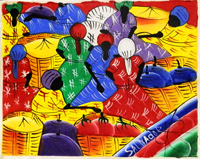 Quadro di  Salvador - Mercato olio tela