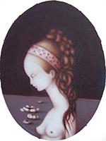 Quadro di Moreno Cappellini - Figura di donna  olio tela