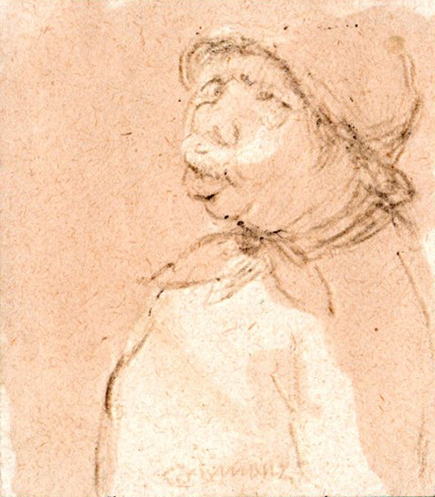 Art work by Nino Tirinnanzi Piccolo ritratto - lapis paper