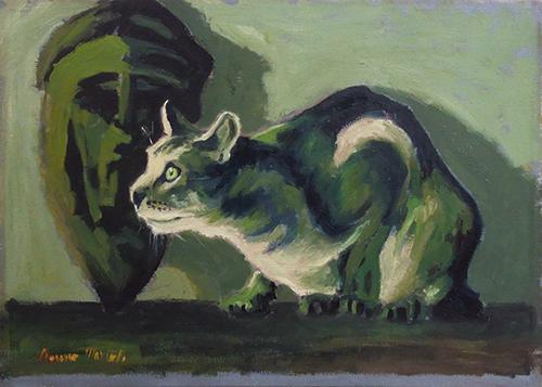 Art work by Maurizio Martelli  Il gatto - oil canvas